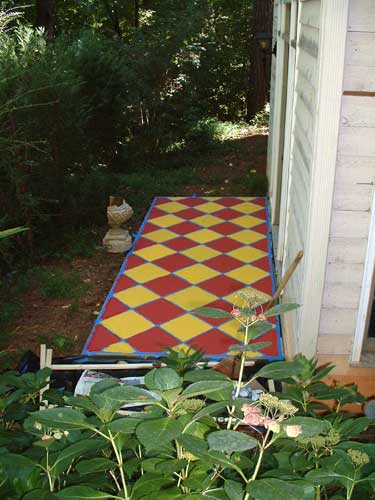 Painting Our Concrete Patio Reeder Redecoration