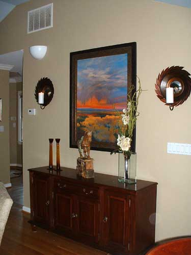 Silver Wave Mirror And Sconces Reeder Redecoration